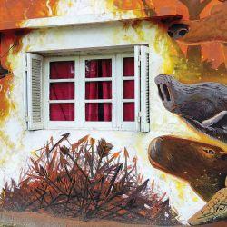 Uno de los murales del Museo a Cielo Abierto, en Pipinas.