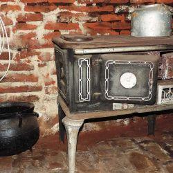 Cocina de campo en el almacén de La Paz.