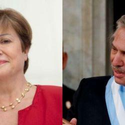 Alberto Fernández y la titular del FMI, Kristalina Georgieva.