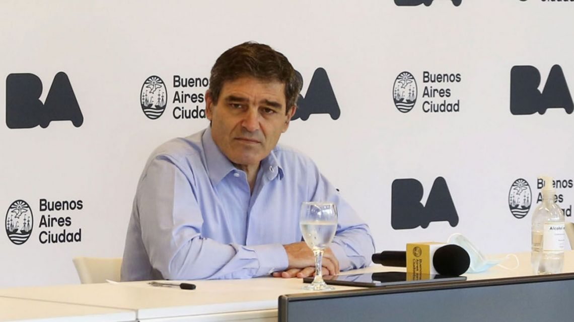 The City of Buenos Aires' Health Minister Fernán Quirós.