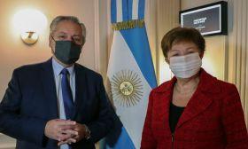 Alberto Fernández Kristalina Georgieva IMF