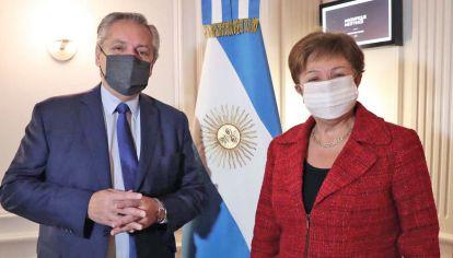 Fuera de agenda. Fernández se reunió con la titular del Fondo Monetario por primera vez cara a cara.