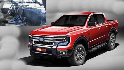 Primera imagen del interior de la nueva generación de Ford Ranger