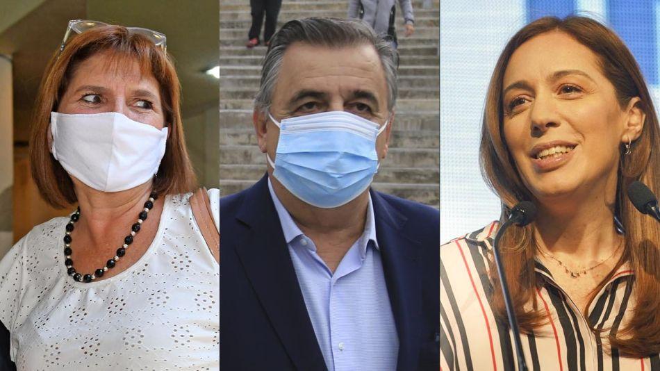 Patricia Bullrich, Mario Negri y María Eugenia Vidal 20210514
