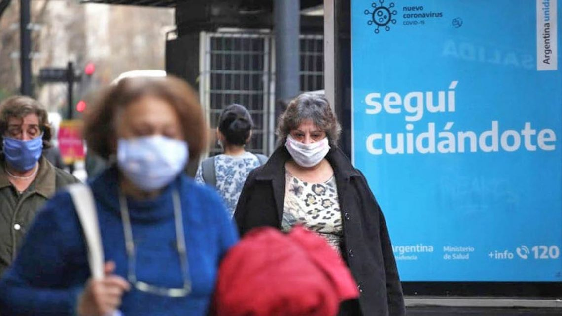 A street scene from Buenos Aires, during the coronavirus pandemic.