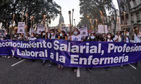 nurses protest city coronavirus