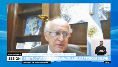 Vocero. Parrilli fue el defensor de la iniciativa para condicionar a Guzmán.
