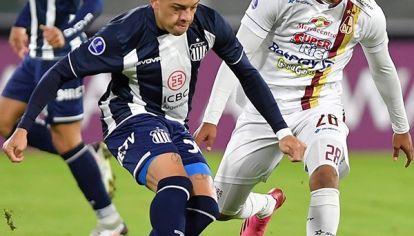 En cancha. Diego García volvió a jugar al fútbol después de varios meses. El martes pasado fue titular en Talleres ante Deportes Tolima.