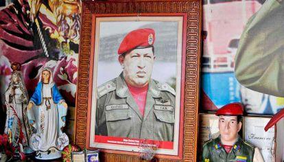San Hugo. En Venezuela el oficialismo impulsa el culto al creador de la Revolución Bolivariana.