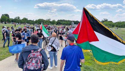 Washington. Una marcha en apoyo a los palestinos.