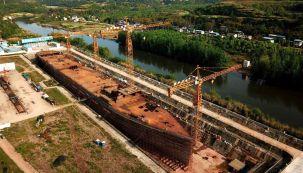 Igual al original: China está construyendo una réplica del Titanic