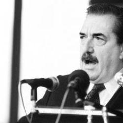 Presidente Raúl Alfonsín.