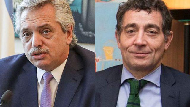 Alberto Fernández con Pepín Rodríguez Simón 20210518