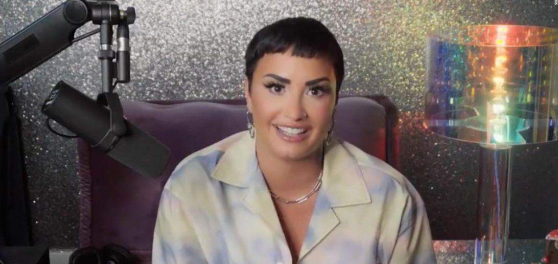 """Demi Lovato se declara """"no binarie"""" y lanza su primer podcast"""