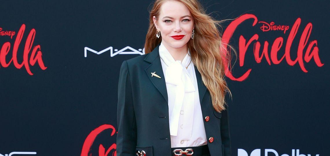 Emma Stone deslumbró con su look en la premiere mundial de Cruella