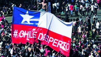 Manifestación en Chile.