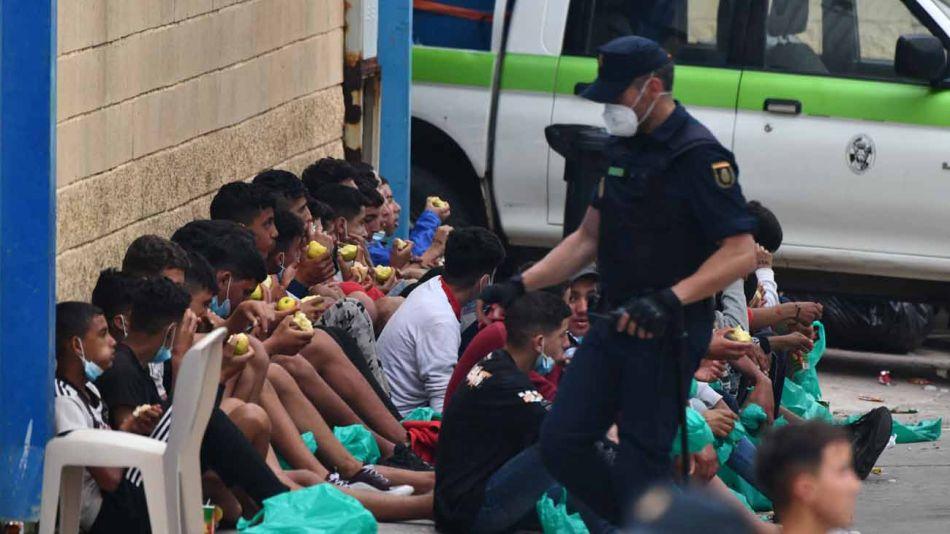crisis migratoria en Ceuta, España 20210520