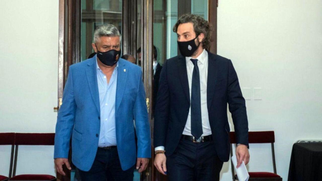 Tapia y Cafiero, debate por la suspensión de los partidos.    Foto:CEDOC
