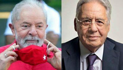 Los ex presidentes Luiz Inácio Lula da Silva y Fernando Henrique Cardoso