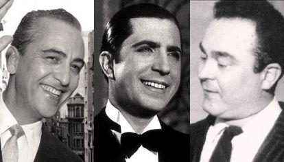 Hugo del Carril, Carlos Gardel y Alberto Castillo