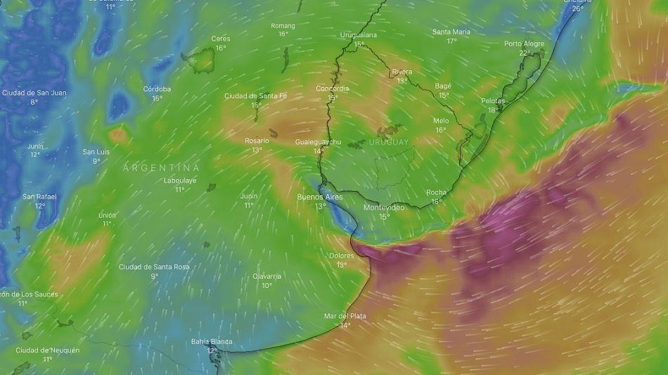 El pronosticado paso del ciclón este sábado por Argentina.