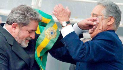 Ellos. Juntos en el traspaso de poder de 2002.