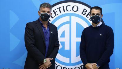 PRESENTACIÓN. Farré fue presentado esta semana como DT de Belgrano en Alberdi.