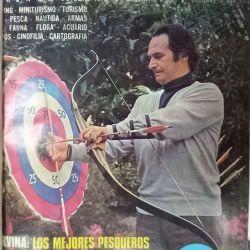Juan Carlos Altavista en la tapa de revista Weekend hablando de su pasión por la arquería.