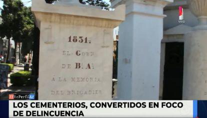 Crecen los robos en los cementerios
