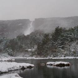 Este martes 25 de mayo Ushuaia amaneció nevada.