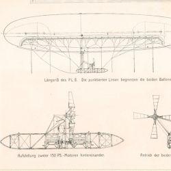 La aeronave medía 48 metros de longitud y contenía 2.500 metros cúbicos de gas