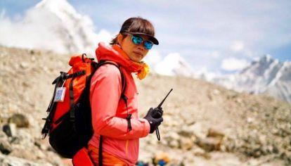 Ada dejó el Campo Base (5.300 msnm) a las 13:20 del sábado 22 de mayo.
