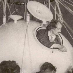 Auguste Piccard, tras su hazaña en la estratósfera lograda el 27 de mayo de 1931.