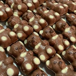 Ositos de chocolate en la fábrica de Mamushka.