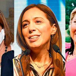 Patricia Bullrcih - María Eugenia Vidal - Lilita Carrió | Foto:cedoc