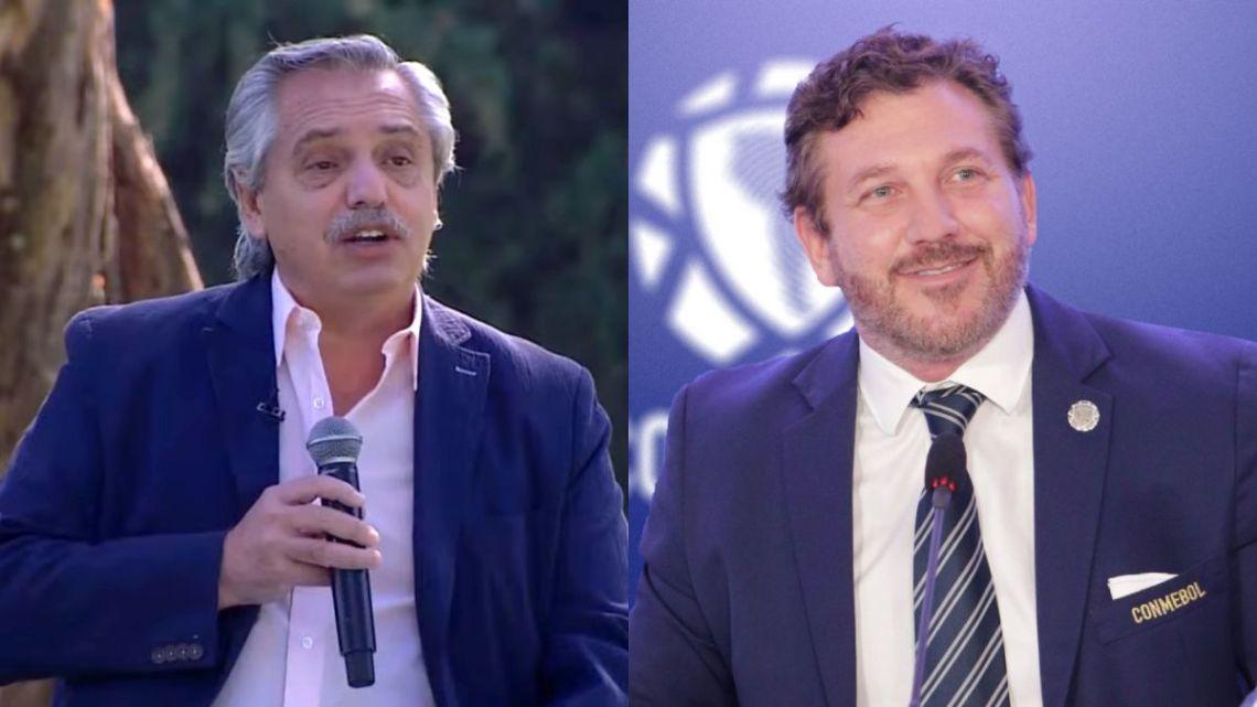 Alberto Fernández (left) and Alejandro Domínguez (right).
