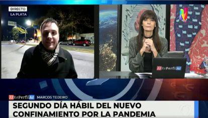 Móvil desde La Plata - Baja la circulación de vehículos