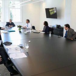 Alberto Fernández en reunió con el gabinete económico.