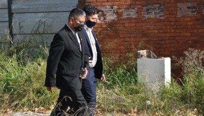 Luís Chocobar en la puerta de los tribunales federales del barrio de Retiro