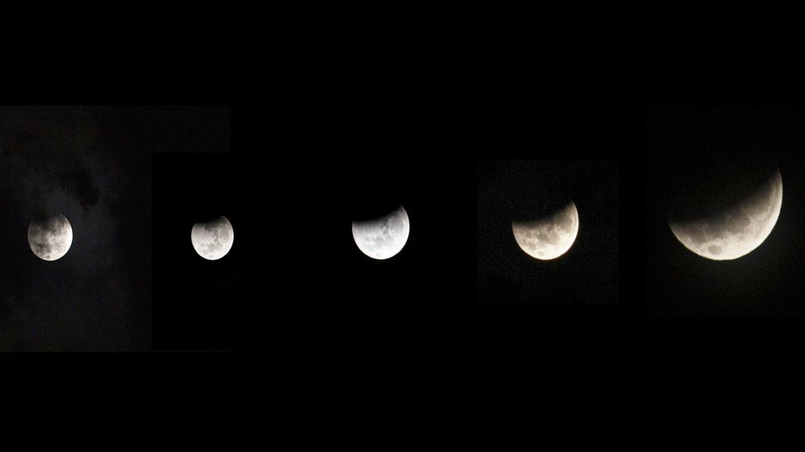 Images taken in Argentina from this week's eclipse.