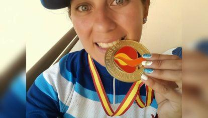 Puro oro. Micaela obtuvo el primer puesto en las últimas tres ediciones de los Juegos Mundiales para Deportistas Trasplantados.