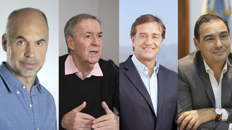 Rodríguez Larreta, Schiaretti, Suárez y Valdés desafían a la Rosada con las clases presenciales.