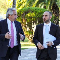 Alberto Fernández y Martín Guzmán.
