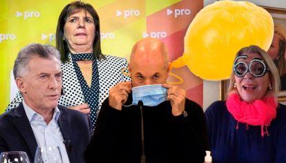 Mauricio Macri - Patricia Bullrich - Rodríguez Larreta - Lilita Carrió