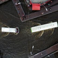 Vista aérea de una zona inundada de Manaos, capital del estado brasileño de Amazonas. | Foto:Michael Dantas / AFP