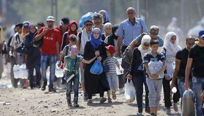 Drama sin fin. Casi seis millones de sirios debieron dejar todo atrás y abandonar el país por los combates.
