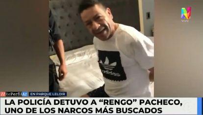 """Así detenían al """"Rengo"""" Pacheco, el narco que vivía en Parque Leloir."""