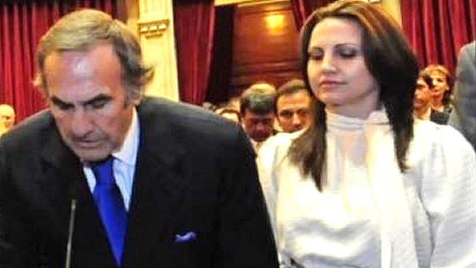 Carlos Reutemann y su hija Cora 20210601