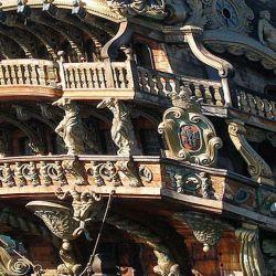Los antiguos galeones disponían de balcones laterales y de popa.