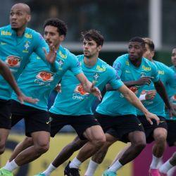 Brasil, Teresopolis: Los jugadores de Brasil participan en una sesión de entrenamiento para la Selección Nacional de Fútbol de Brasil en el Complejo Deportivo Granja Comary como parte de su preparación para la próxima Copa América 2021. | Foto:Lucas Figueiredo / CBF Oficial / DPA